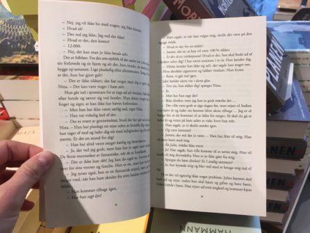 Opslag fra hver af de fire genudgivelser af Kirsten Hammans bøger.